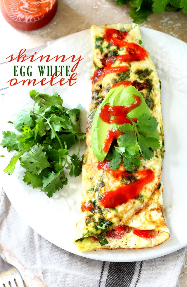 ... Skinny Egg White Omelet with spinach and tomato is where it's at if
