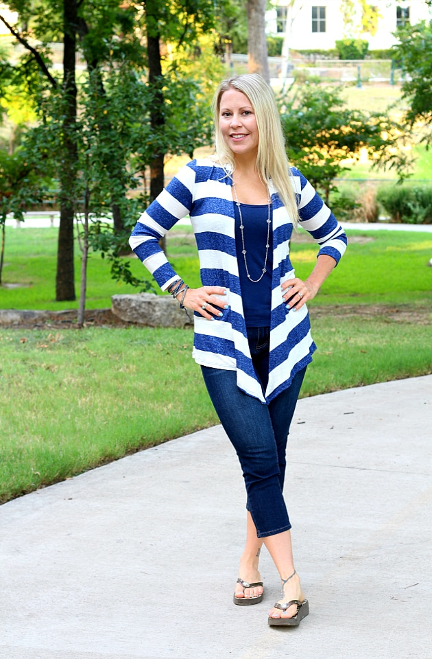 Golden Tote Review - July 2016: Chris & Carol Striped Cardigan