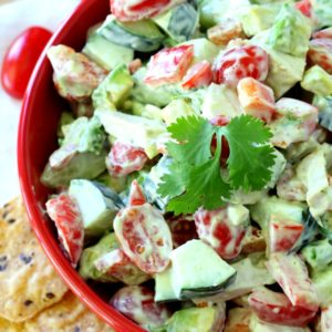 Chicken Avocado Tomato Salad