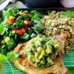 Cilantro Lime Grilled Pork Chops With Southwestern Guacamole