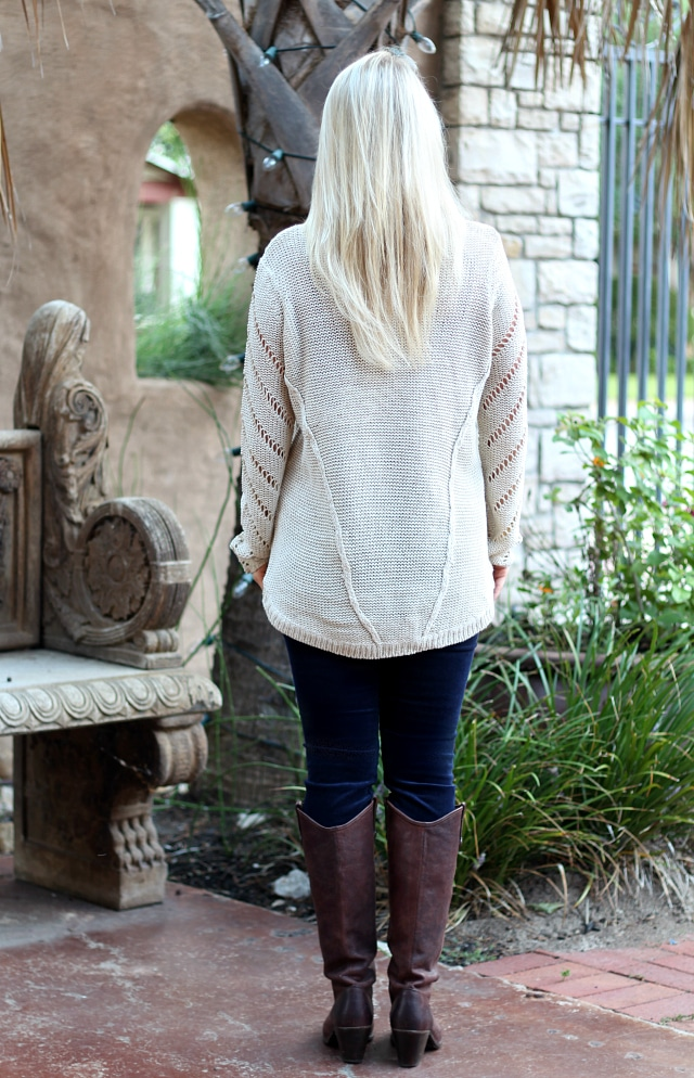 October 2016 Stitch Fix Review - Donny Cowl Neck Pullover by RD Style and Hampton Corduroy Skinny Jean by Edyson