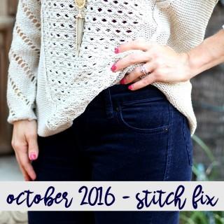 October 2016 Stitch Fix + $100 Giveaway