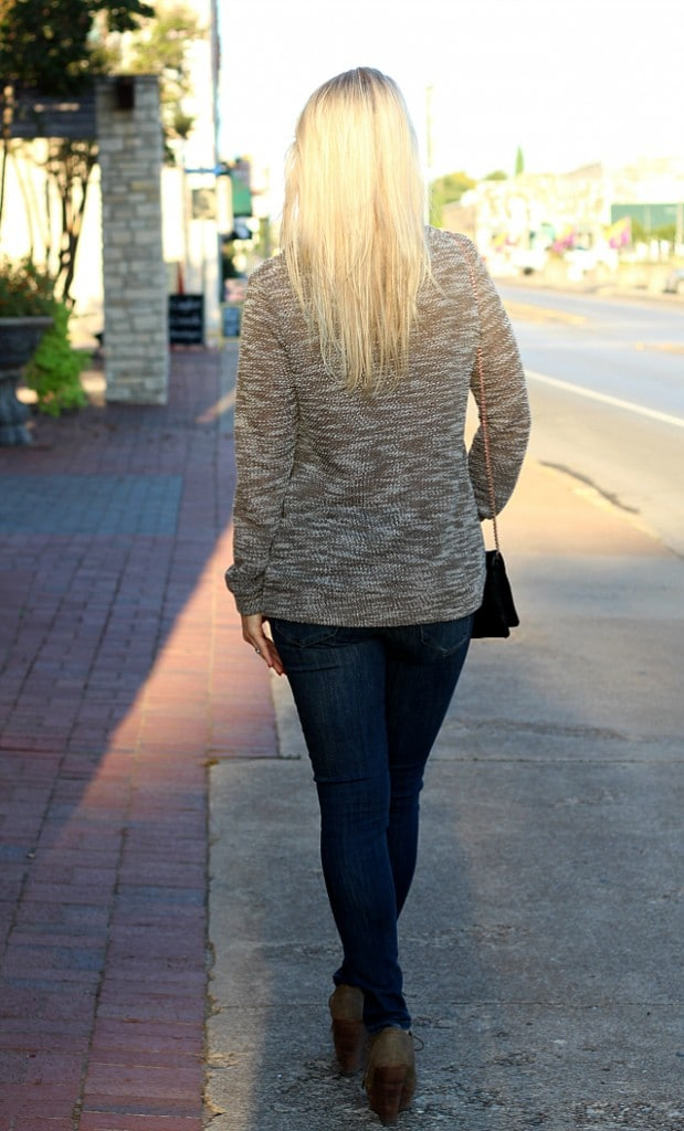 October 2016 Stitch Fix Review - Evie Drawstring Funnel Neck Sweatshirt by Loveappella