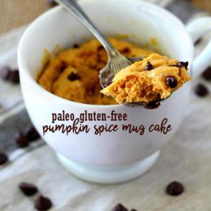 Paleo Gluten-Free Pumpkin Spice Mug Cake