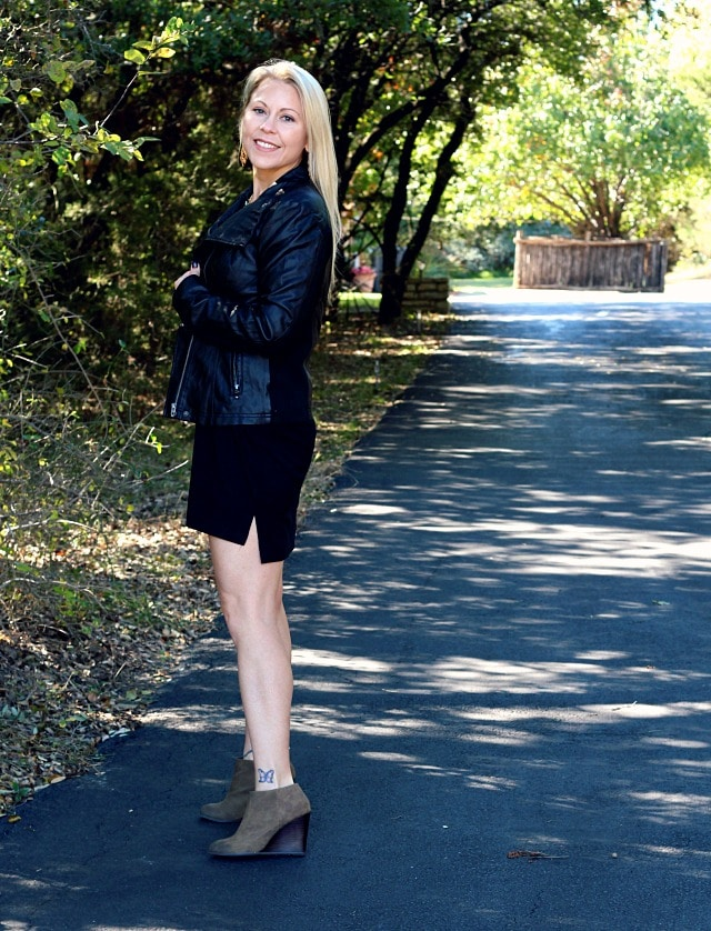 December 2016 Stitch Fix Review- Rhonda Faux Leather Jacket by RD Style | 78.00
