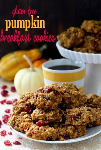 Bake these, eat these for breakfast or dessert, share these, save these all for yourself. But simply don't pass up making them – these Gluten-Free Pumpkin Breakfast Cookies are too good to miss out on.