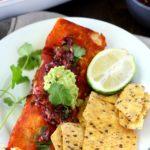 Leftover Turkey Butternut Squash Enchiladas (gluten-free & dairy-free)