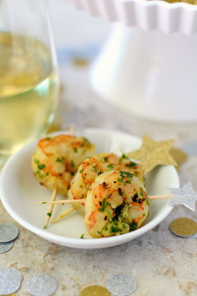Start off your next party with this easy, yet impressive, Healthy Chimichurri Shrimp Appetizer. It's sure to be a huge hit and leave guests asking for your recipe!