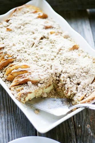 Overnight Pancake Casserole- because no one wants to spend Christmas morning in the kitchen!