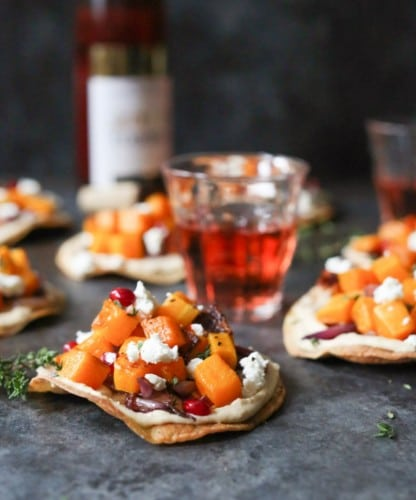 butternut-squash-tostadas-with-hummus-and-goat-cheese