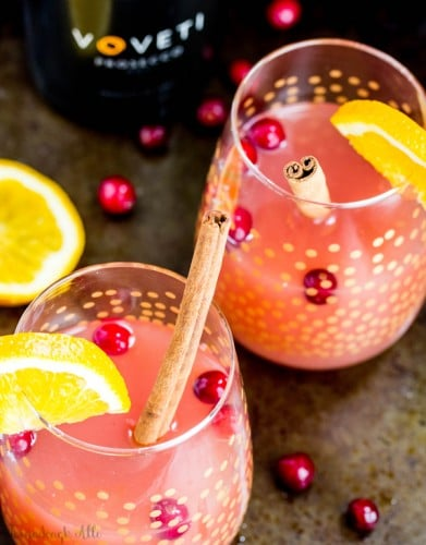 Cranberry Orange Mimosa- perfect drink for your next party, get together or just because!