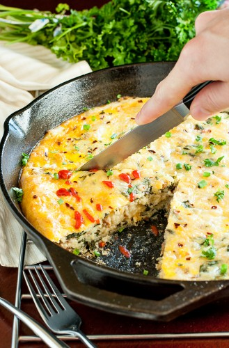 skillet sausage, egg, and cheese grits breakfast bake will delight your friends and family! And even better? This brunch bombshell of a breakfast casserole can be made in advance!