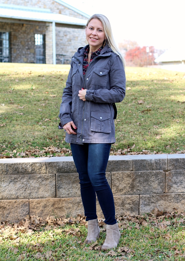 January 2017 Stitch Fix Review- Chapleen Cargo Jacket by Tinsel | 88.00