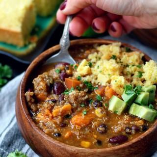 Best Ever Vegan Quinoa Chili