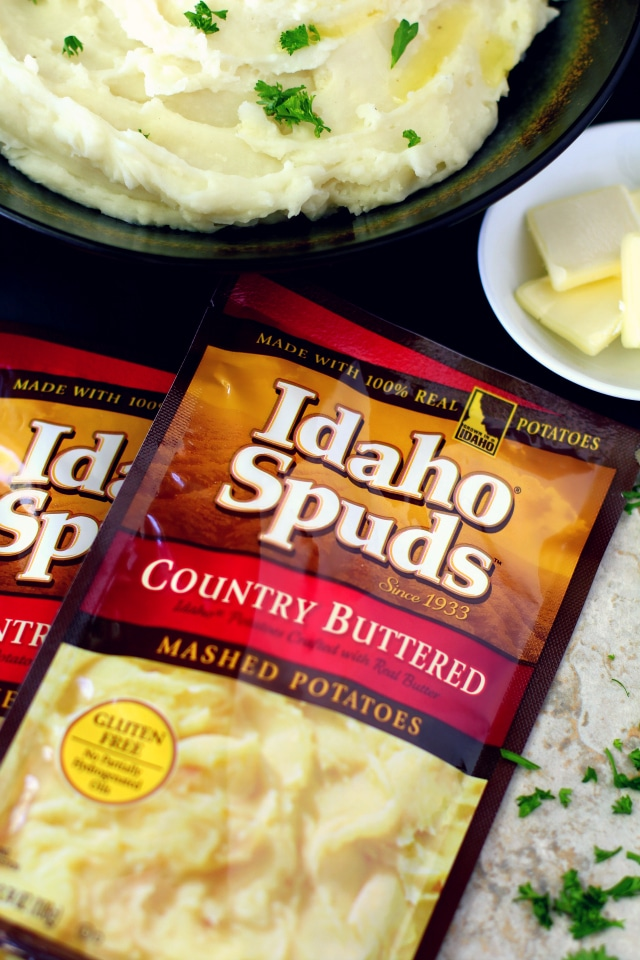 The traditional comfort dish is transformed into game day fun with this yummy mashed potato bar!