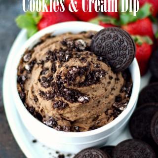 Healthier Cookies and Cream Dip