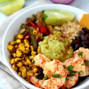 Chili Lime Shrimp Fajita Bowl