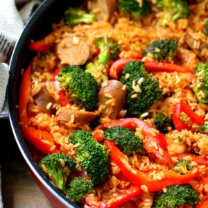 Easy Sausage Rice Skillet Meal