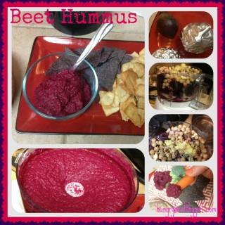 Snackity snacks! *Beet Hummus*