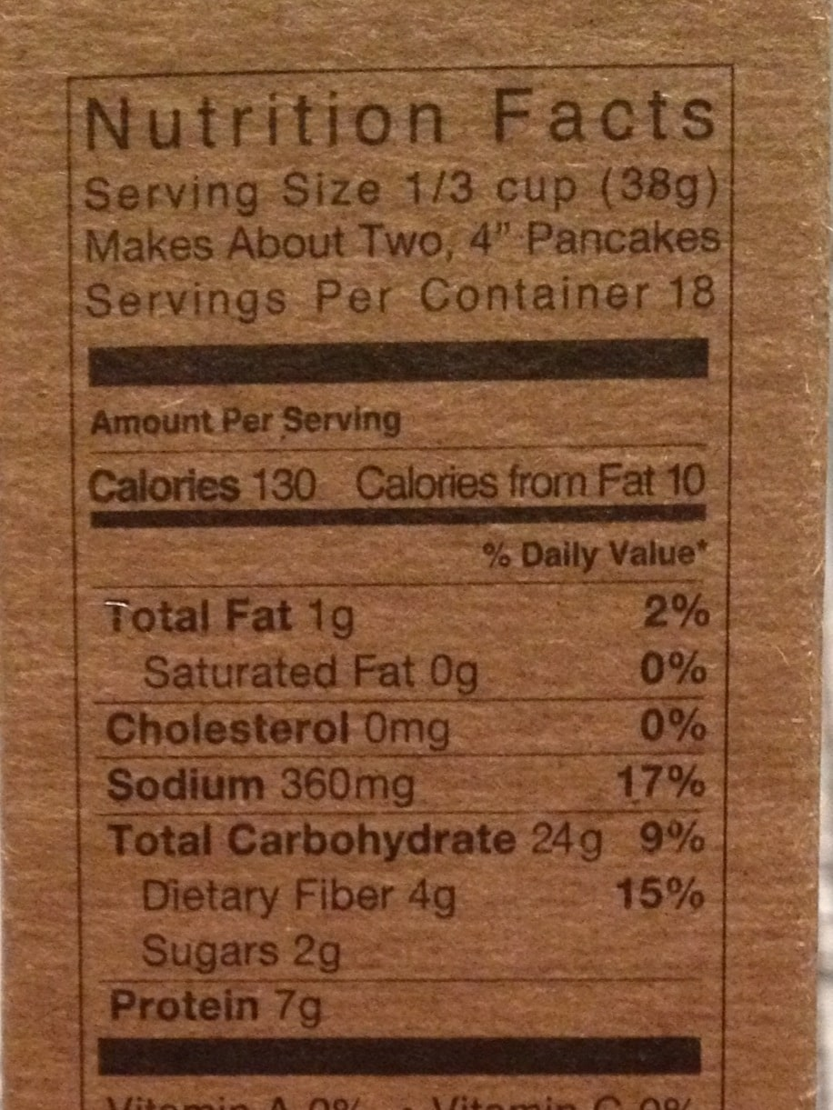 kodiak cakes frozen waffles nutrition facts