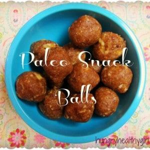 The best Paleo snack balls ever!!