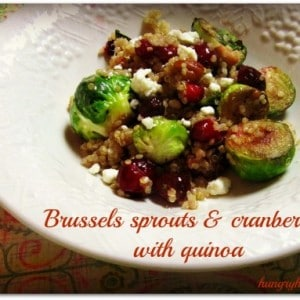 Brussels Sprouts & Cranberries with Quinoa