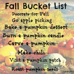 Fall Bucket List Revisited & Roasted Pumpkin Seeds