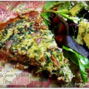 Spinach Bacon Quiche {Paleo friendly & grain/gluten free}