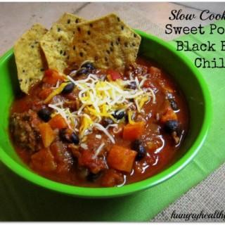 Sweet Potato-Black Bean Chili {slow-cooker recipe}