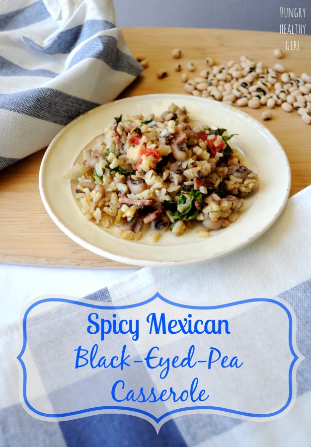Spicy Mexican Black-Eyed-Pea Casserole | Hungry Healthy Girl