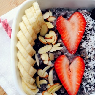 Banana Blueberry Steel Cut Oatmeal in the Slow Cooker
