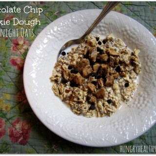 Chocolate Chip Cookie Dough Overnight Oats