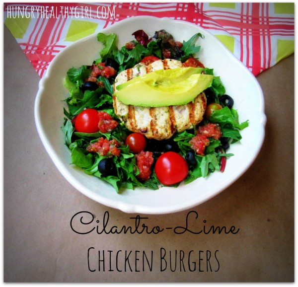Super juicy Cilantro- Lime Chicken Burger bursting with flavor!