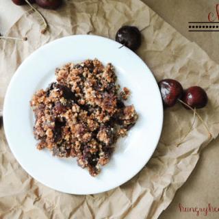 Cherry Almond Crumble (vegan, gluten-free, & paleo)