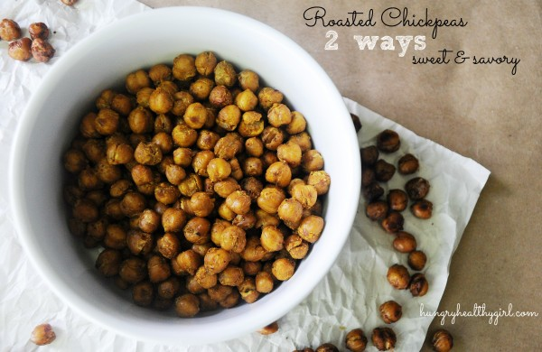 Roasted Chickpeas (a sweet and savory version)