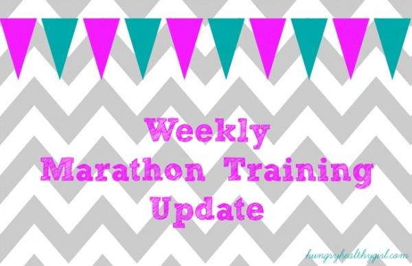 weeklymarathontraining update