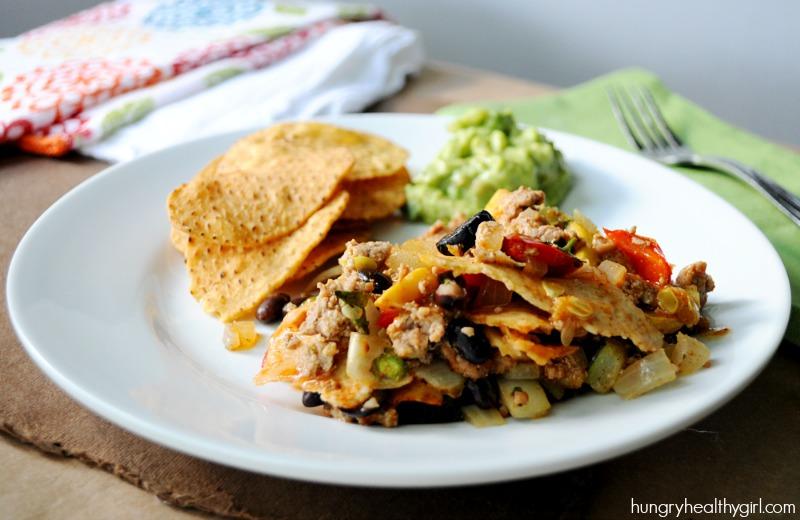 Stacked Vegetable Turkey Enchiladas