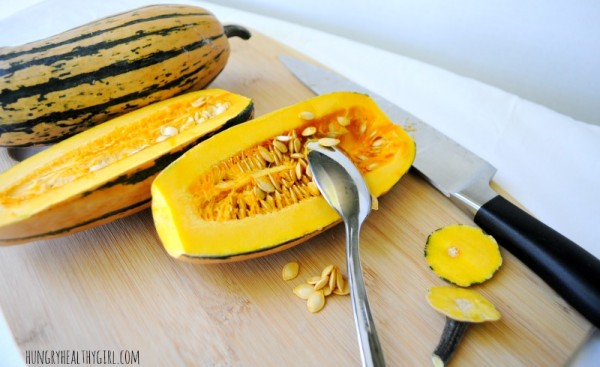 How to cut a Delicata Sqush