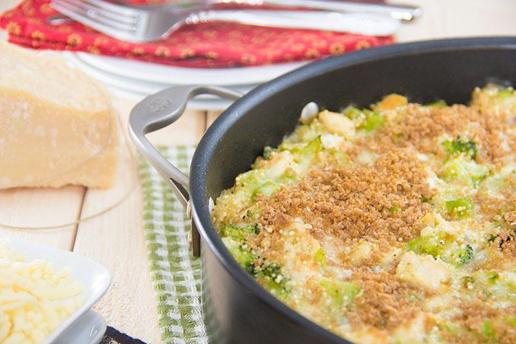 Chicken Broccoli Cheddar Quinoa Casserole