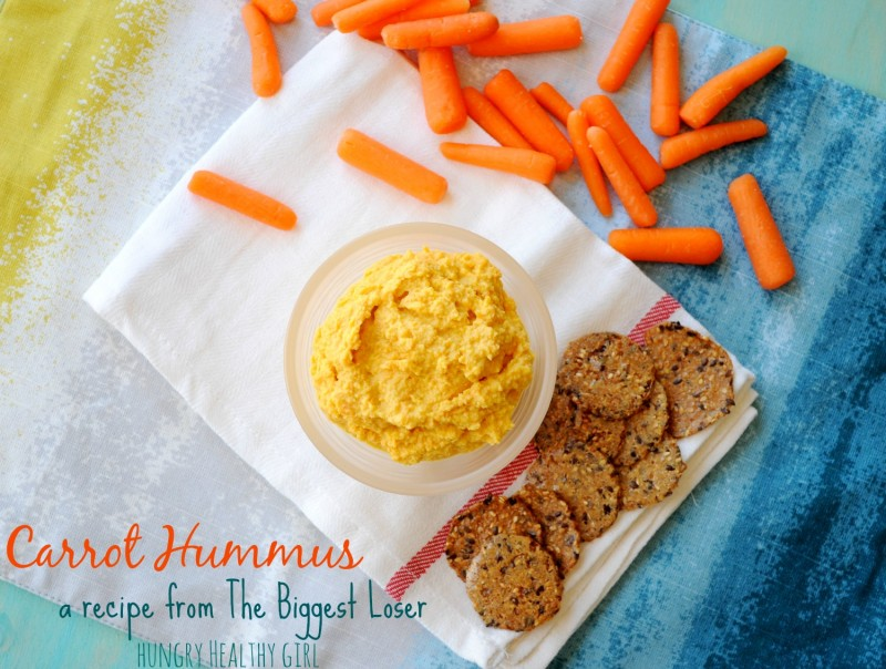 Carrot Hummus {recipe from The Biggest Loser} | Hungry Healthy Girl