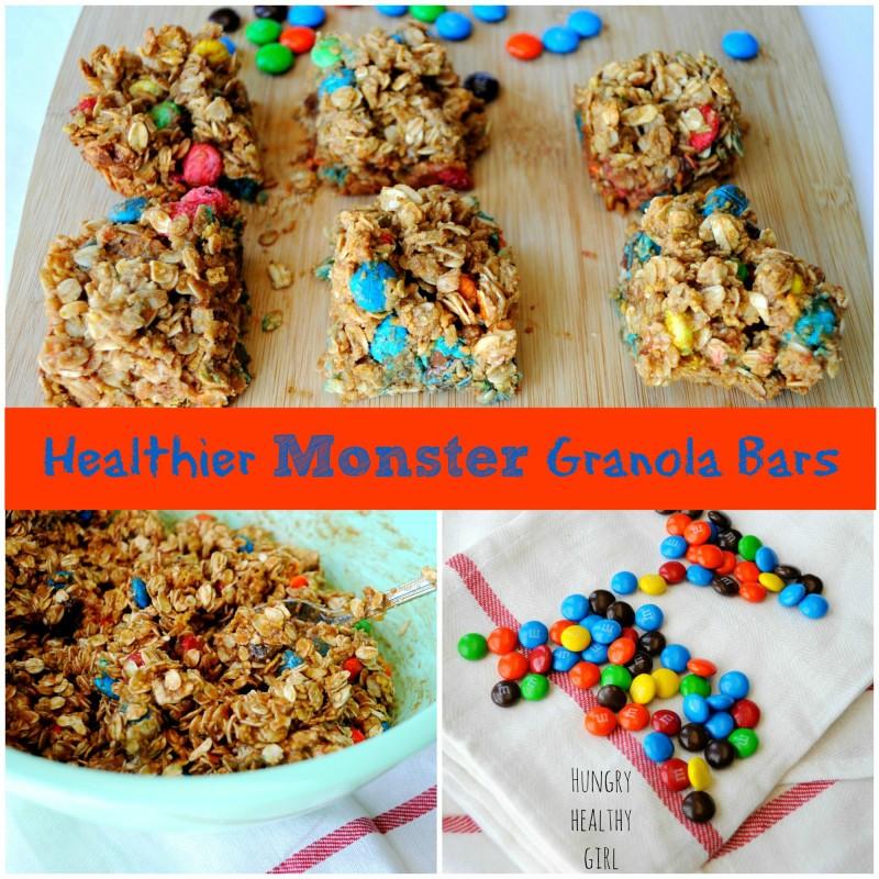 Healthier Monster Granola Bars | Hungry Healthy Girl