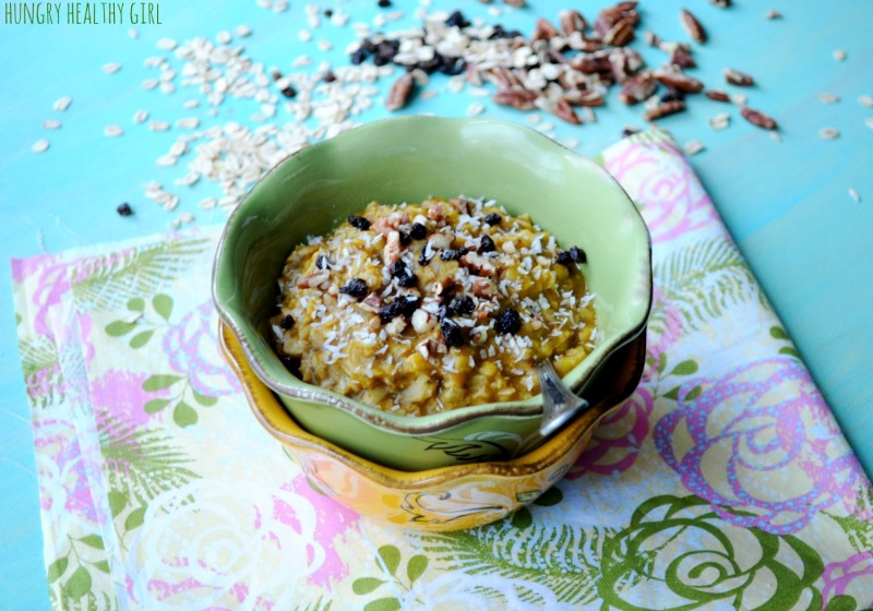 Pumpkin Banana Oatmeal | Hungry Healthy Girl