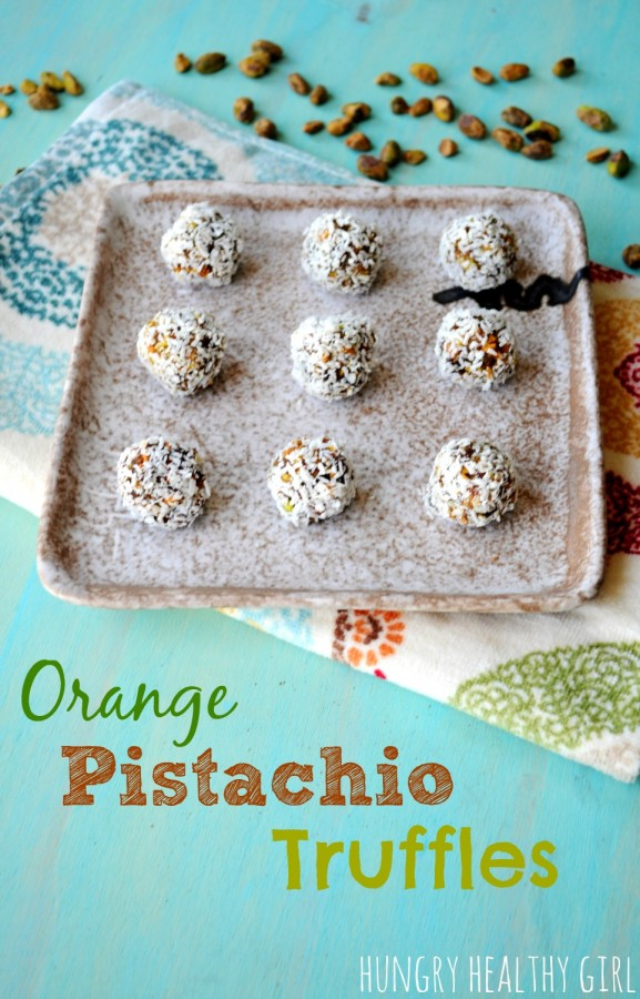 Orange Pistachio Truffles (a healthy snack with all natural ingredients) | Hungry Healthy Girl
