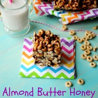 Almond Butter Honey Cheerio Bars