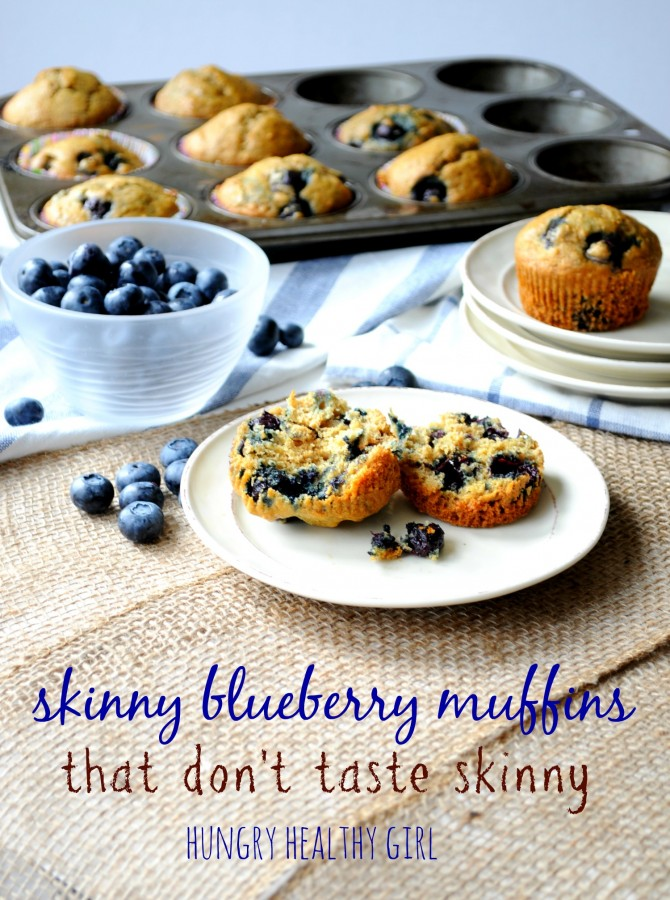 A skinny blueberry muffin that doesn't taste skinny!