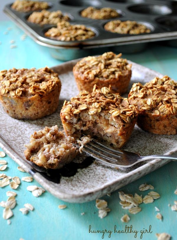 Baked Banana Oatmeal Muffins