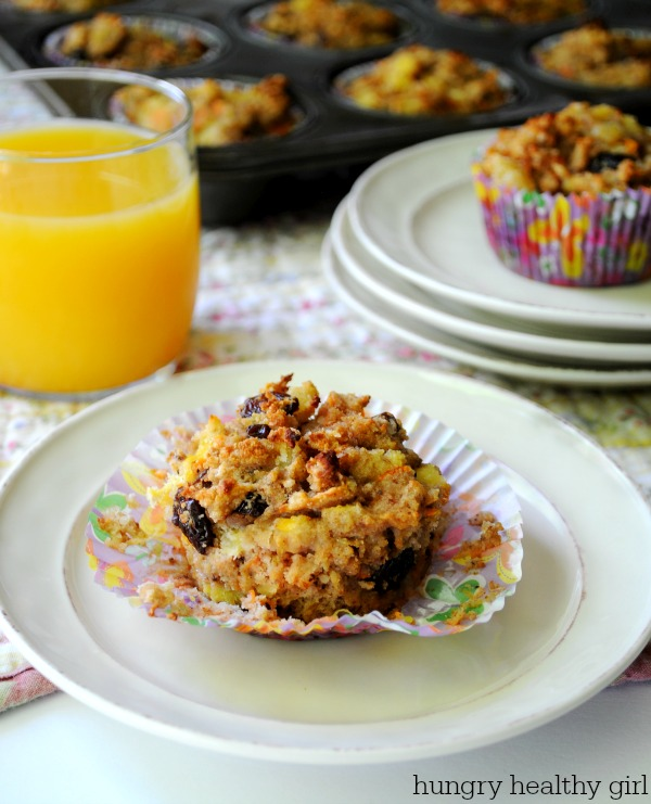 Gluten Free Morning Glory Muffin made with coconut flour