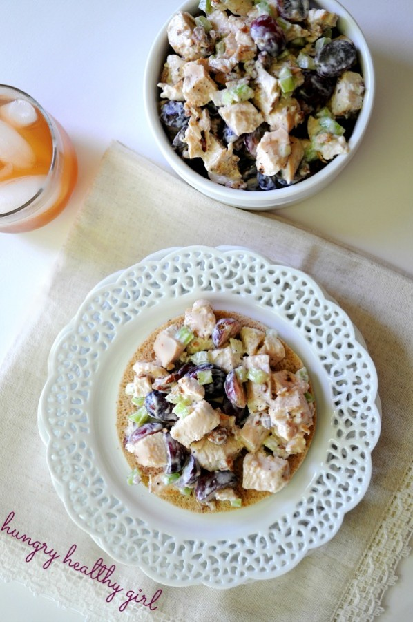 Greek Yogurt Chicken Salad with Grapes and Pecans - Kim's ...