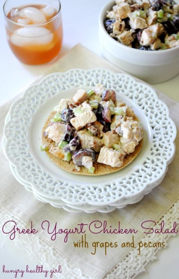 Greek Yogurt Chicken Salad- a light and tasty lunch idea!