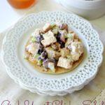 Greek Yogurt Chicken Salad with Grapes and Pecans